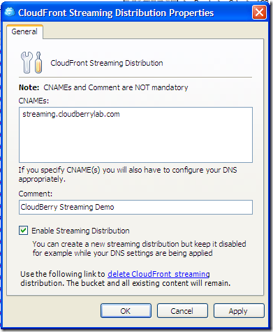 Configuring CloudFront Streaming Distribution-2