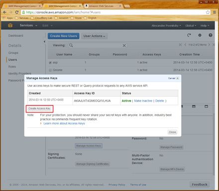 How to find AWS Access Key ID and Secret Access Key