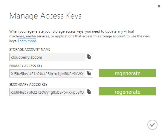 Azure copy keys