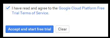 Accept Google Cloud Terms