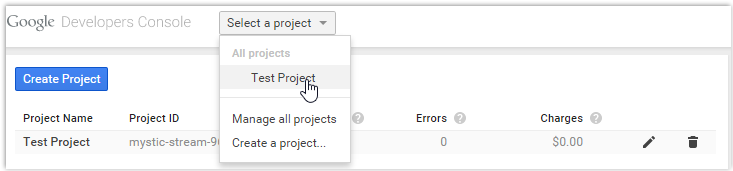 Select a Project