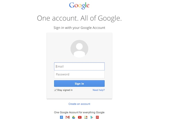 Google Account Sign-In Screen Authentication