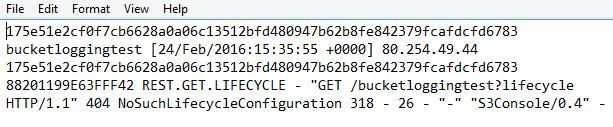 Amazon S3 Log File Content Demonstration