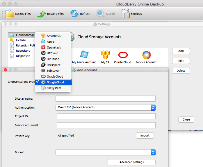 And Get A Authentication Token That You Will Need To Copy Paste In Popup Dialog When Registering The Google Cloud Account Cloudberry Backup