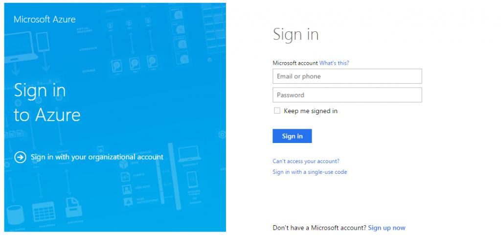 Microsoft-azure-portal-sign-in