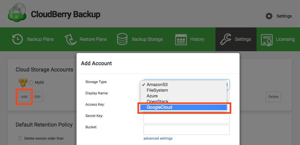 cloudberry-backup-oauth-authorization-google-cloud-storage-screenshot