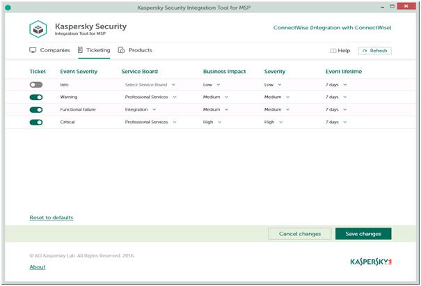 MSP antivirus solution - Kaspersky