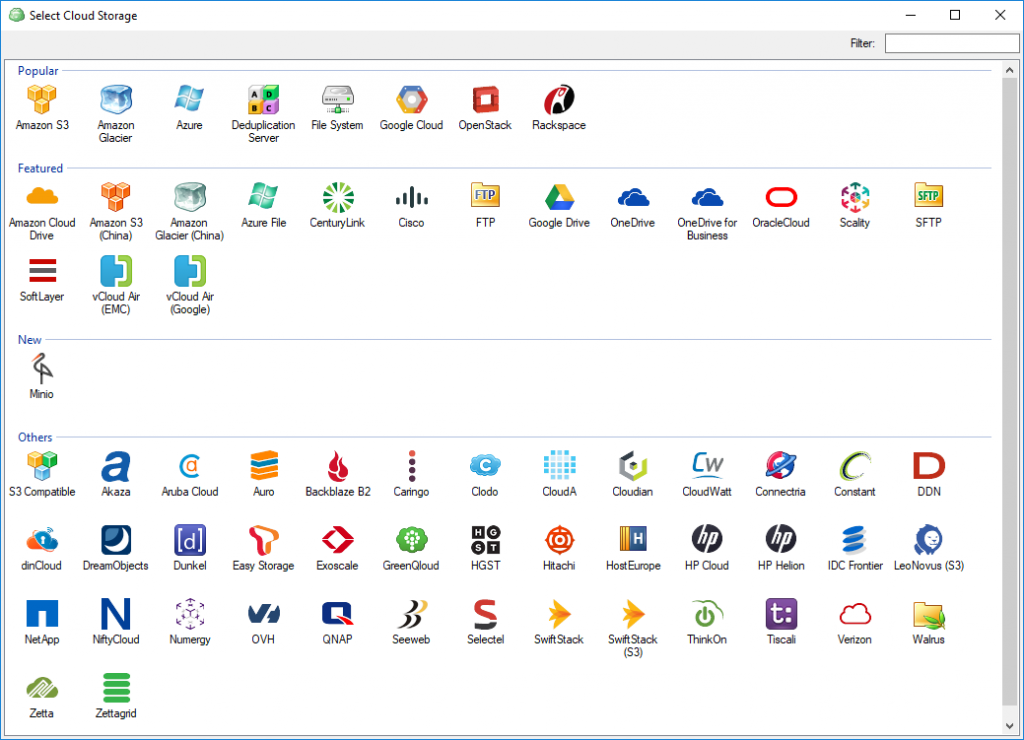 CloudBerry supported storage providers