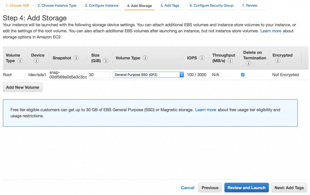 Adding storage to EC2 instance