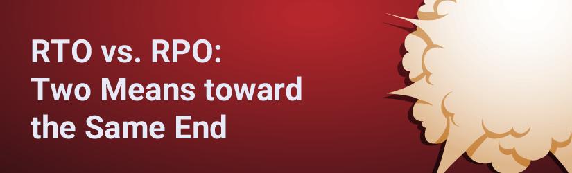 RTO vs RPO. The difference