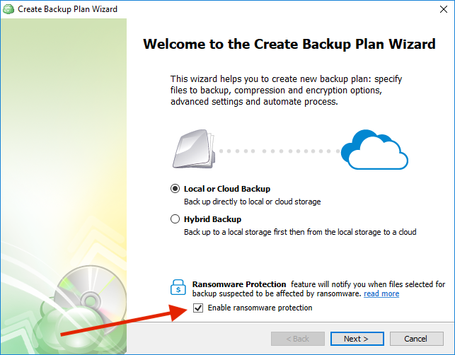 Enabling Ransomware Protection in CloudBerry Backup