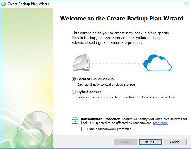 Windows 10 cloud backup options