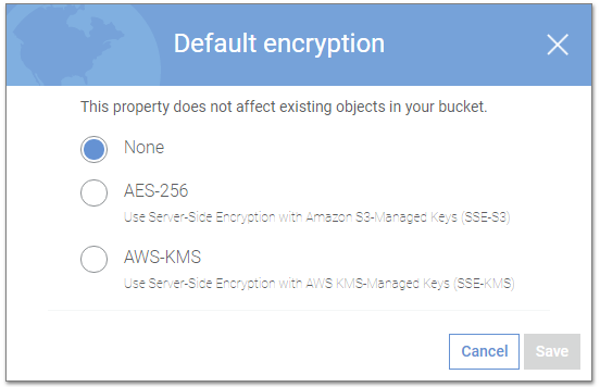 Server-side encryption options in Amazon