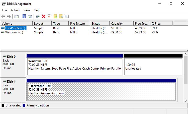 Resize Windows partition: Open 'Disk Management'