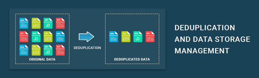 Deduping Data and Data Storage Management