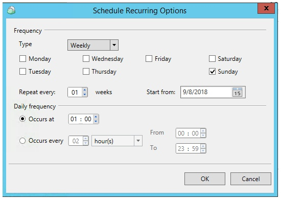 Multiple Scheduled Backups with CloudBerry Backup. Reccuring schedule