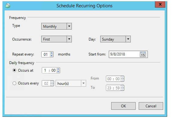 Multiple Scheduled Backups with CloudBerry Backup. Set the schedule