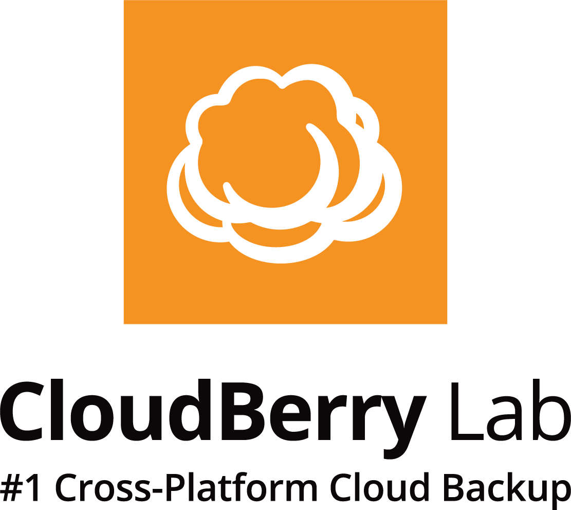 Vertical black CloudBerry Lab logo on a transparent background