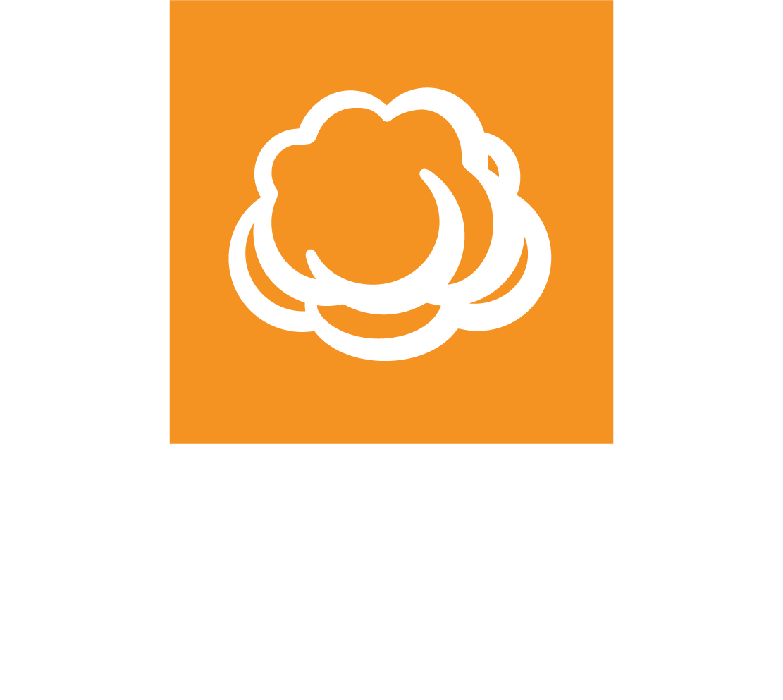 Vertical white CloudBerry Lab logo on a transparent background