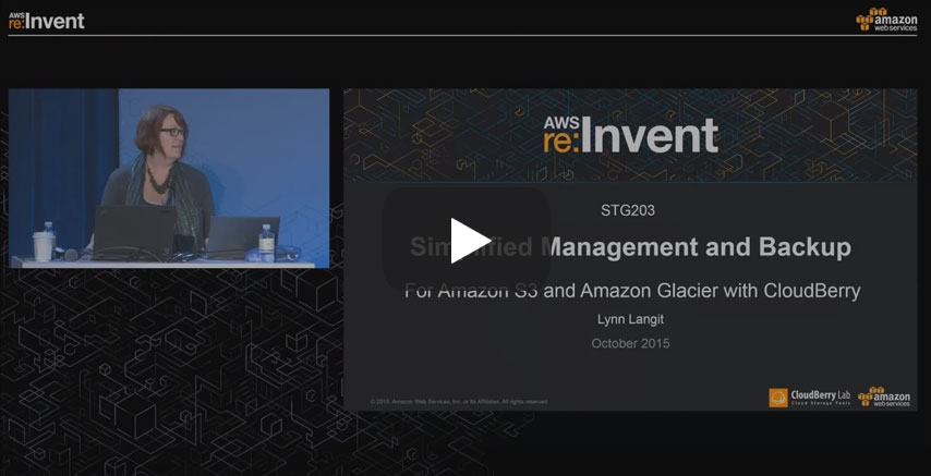 Re:invent 2015 video
