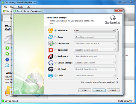 CloudBerry Backup Desktop Edition Screenshot