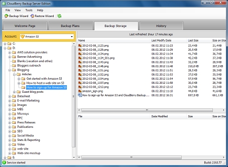CloudBerry Backup Enterprise Edition Screenshot