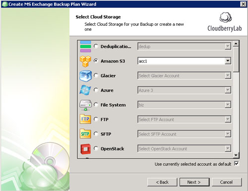 Select cloud storage