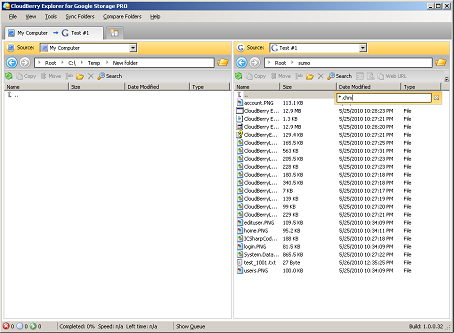 CloudBerry Google Storage Explorer PRO Screenshot