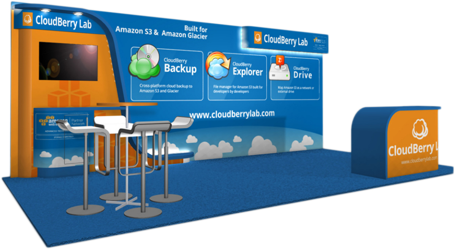 CloudBerry Lab booth image