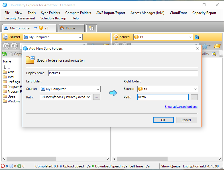 How to Sync Files with Amazon S3 Bucket in Windows