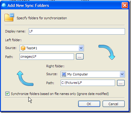 Add New Sync Folders