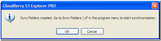 Message explaining what you should do next to run sync