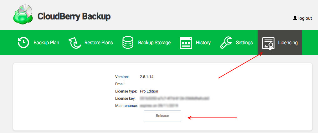 How to Release License in MSP360 Backup for Linux