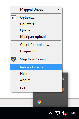 How to Release License in MSP360 Drive