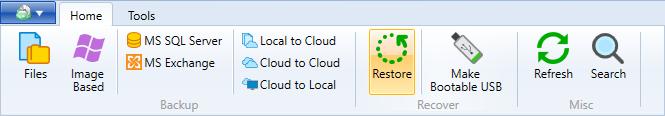 MS Exchange Server restore