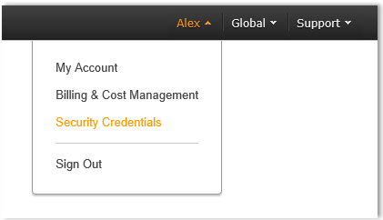 Retrieving AWS Root Access Key Step 1