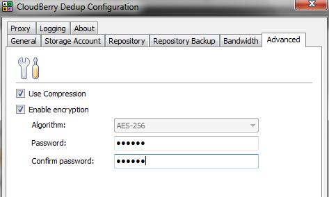 Deduplication Server Settings