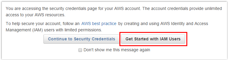 Retrieving AWS IAM Access Key Step 2