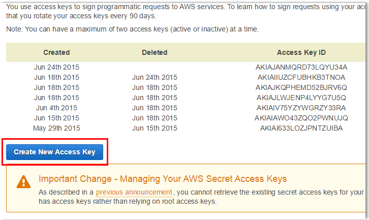 Retrieving AWS Root Access Key Step 4