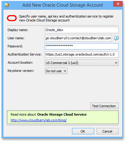 CloudBerry Explorer: Oracle Archive Storage Supported