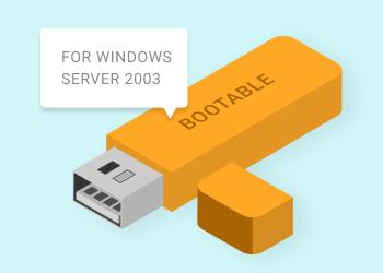 Windows Server 2003 bootable usb