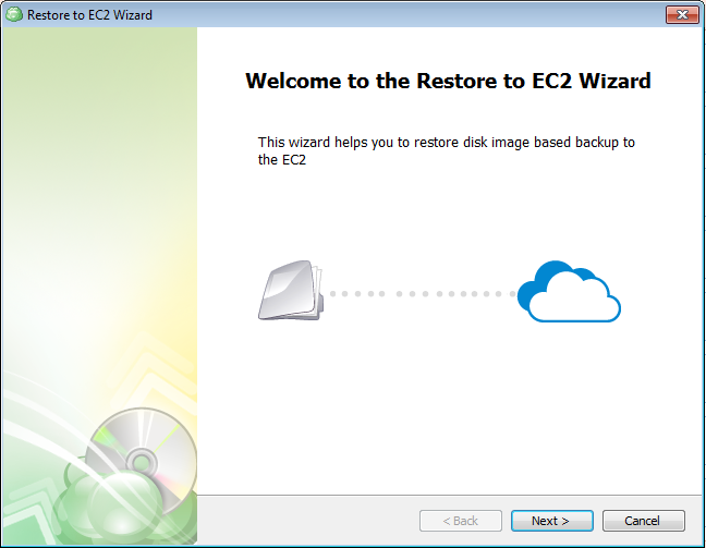 Restore to EC2 Wizard