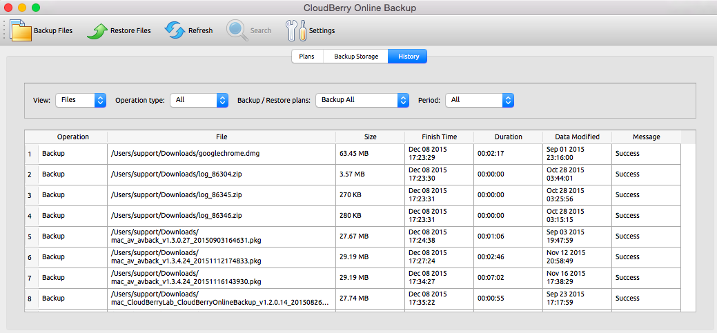 CloudBerry Backup for Mac OS 1 4 Release Notes
