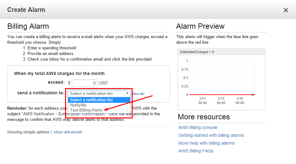 How to Configure Billing Alerts for AWS Account