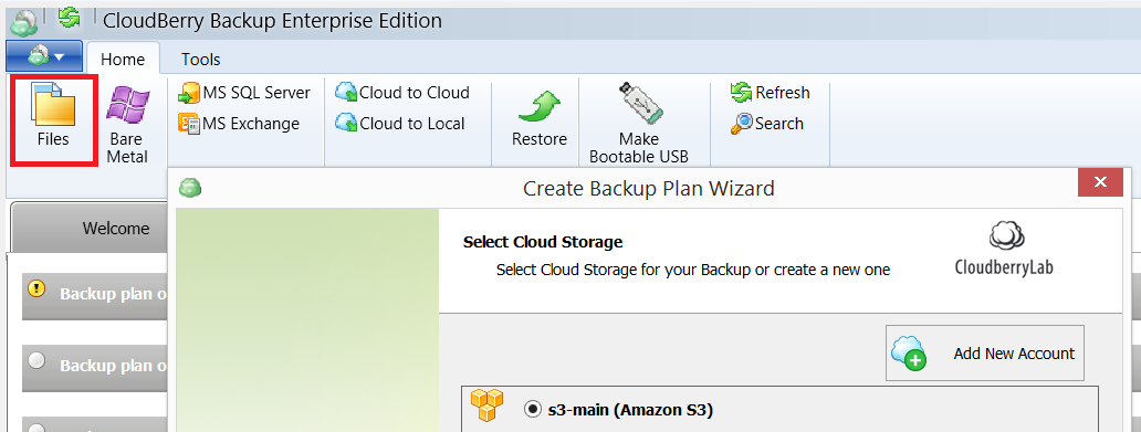 Select Amazon S3