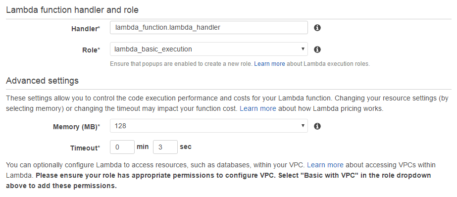 Configuring-Lambda-function-IAM-role-and-timeout