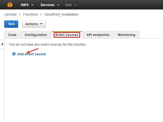 cloudfront-invalidation-aws-lambda-event-sources-configuration