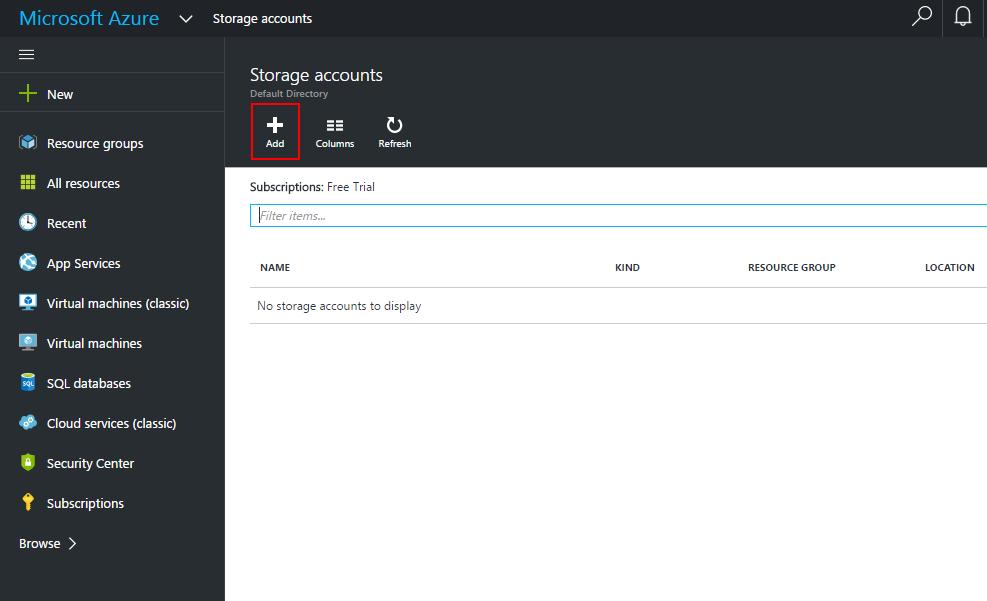 new-storage-account-configuration