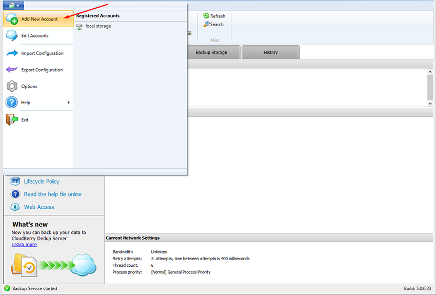 how-to-use-b2-cloud-storage-with-cloudberry-backup-add-new-account