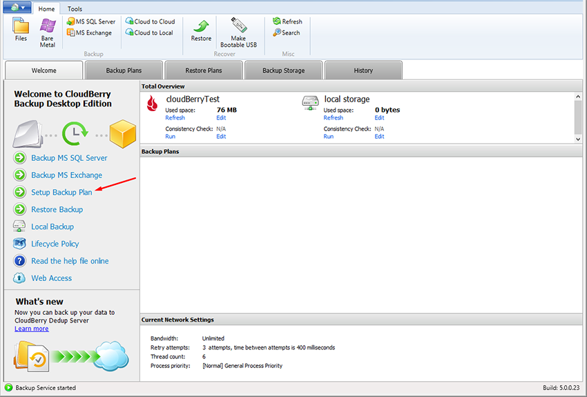 how-to-use-b2-cloud-storage-with-cloudberry-backup-enter-credentials-setup-backup-plan